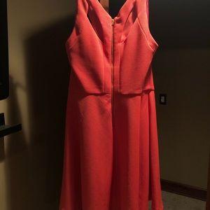 Betsey Johnson Dresses - Sleeveless orange cutout dress